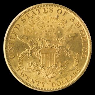 1898-S $20 Liberty PCGS MS63 CAC