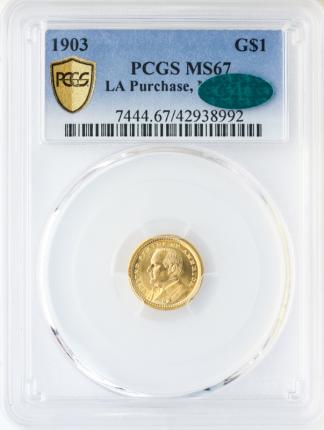 1903 McKinley $1 PCGS MS67 CAC