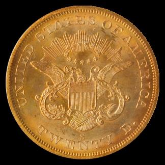 1857-S $20 Liberty SSCA PCGS MS65 CAC
