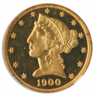 1900 $5 Liberty NGC PR64 Ultra Cameo CAC
