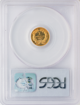 $1 GOLD 1887 CAMEO