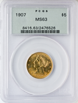 4 PC Liberty Set Certified MS63 (Years vary)
