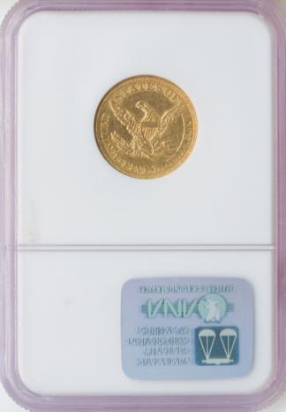 1861 $5 Liberty NGC AU58