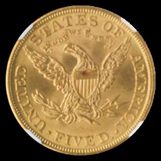 1906 $5 Liberty NGC MS65 CAC +
