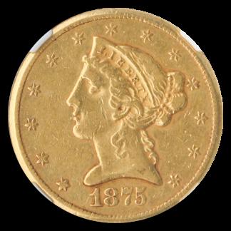 1875-CC $5 Liberty NGC XF45 CAC