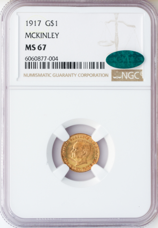 1917 McKinley $1 NGC MS67 CAC