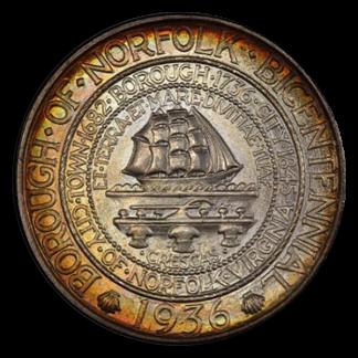 1936 Norfolk Virginia Silver Commemorative PCGS MS67 CAC