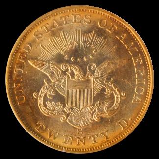 1855-S $20 Liberty SSCA PCGS MS61 CAC